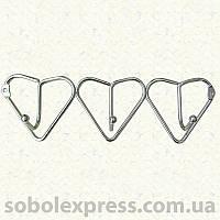 Вешалка настенная металическая в виде сердечек, 3 крючка