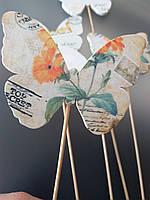 Мини декор Бабочка на шпажке