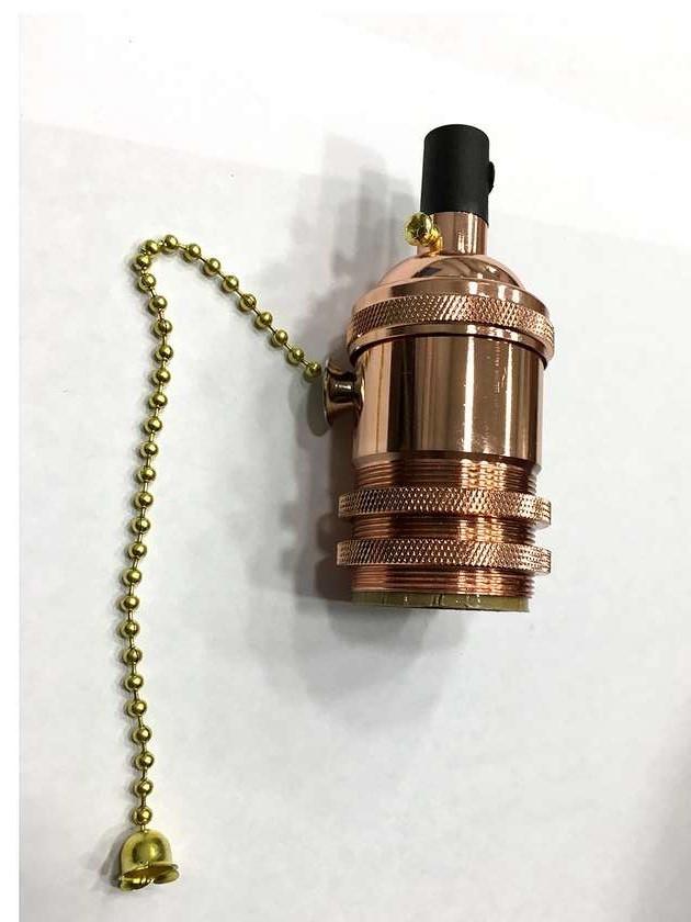 AMP патрон 16 rose gold с выключателем (в сборе )