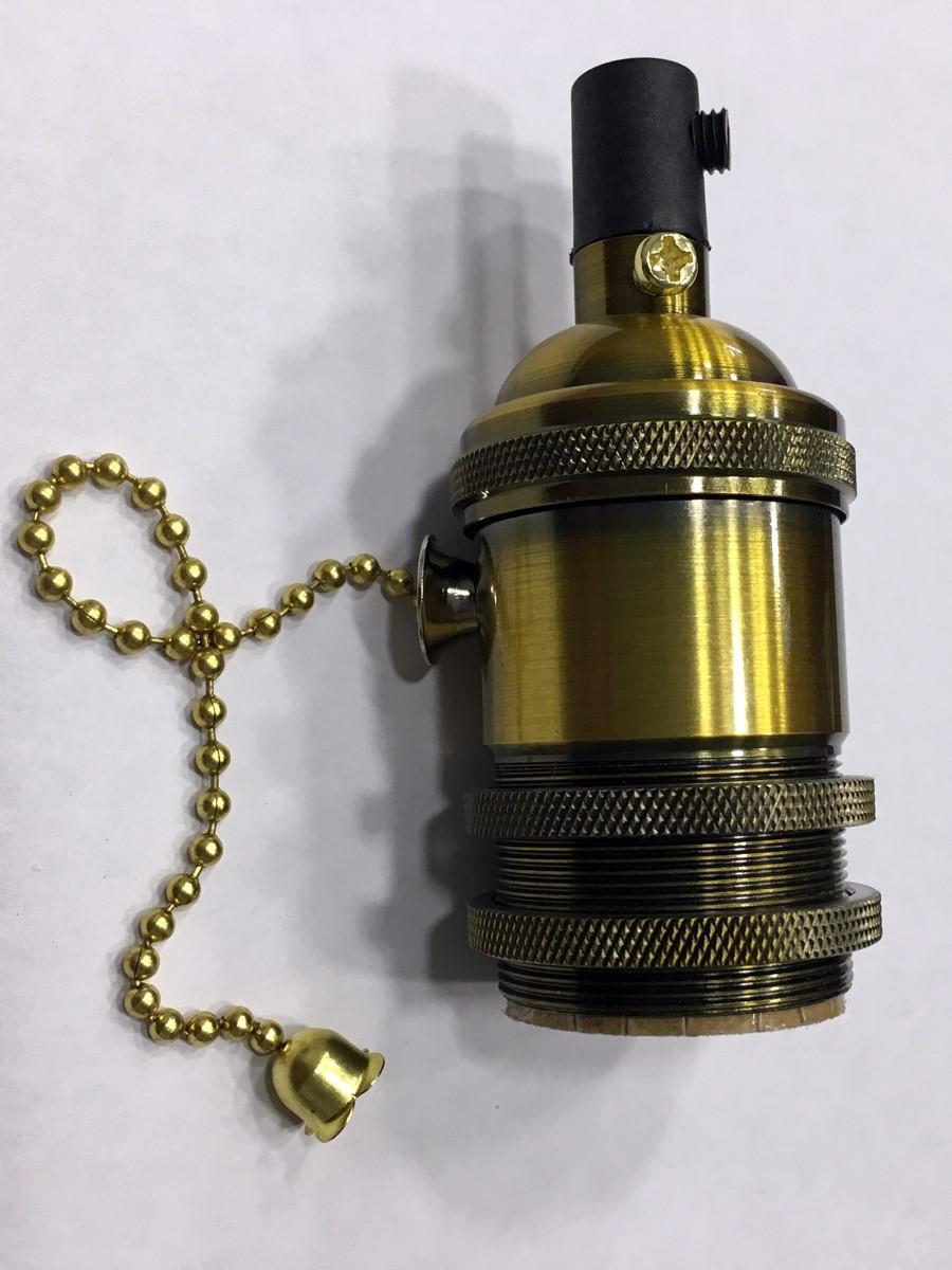 AMP патрон 16 gold old copper с выключателем (в сборе )