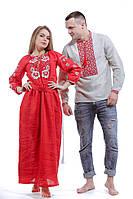 Парные вышиванки - мужская рубашка и платье в пол