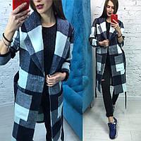 """Пальто """" Барбери """" цвет синий 12453"""