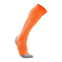 Мужские компрессионные спортивные гольфы для бега 2XU MA2442e (оранжевый / серый)
