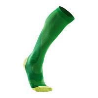 Мужские компрессионные спортивные гольфы для бега 2XU MA2442e (зелёный / лимонный)