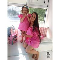 Одинаковая одежа Family Look Мама и Доченька Комплект Платьев  Аолани