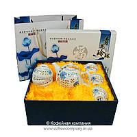 Набор китайской чайной церемонии Фарфор с прозрачными вставками Небо 7 предметов подарочный