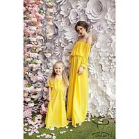 Одинаковая одежа Family Look Мама и Доченька Комплект Платьев Шифоновых Эдвидж
