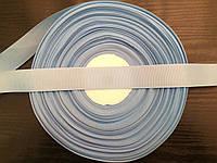 Лента репсовая, цвет голубой , ширина 2.5см (96м в рулоне)