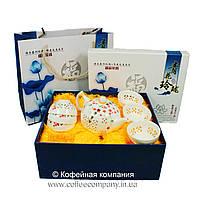 Набор китайской чайной церемонии Фарфор с прозрачными вставками Солнце 7 предметов подарочный