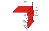 Ветровая планка (торцевая, фронтонная) цветная 0,4 мм