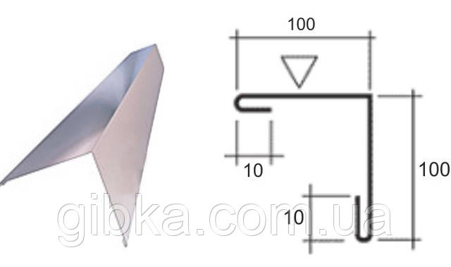 Угол наружный/внутренний 100*100 цветной 0,4 мм