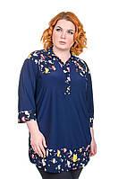 Туника рубашка батал Комби фламинго (54-68)