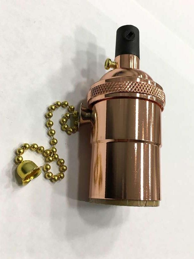 AMP патрон 18 rose gold  copper с выключателем (в сборе )