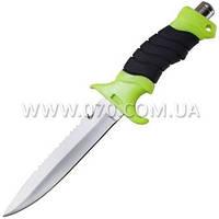 Нож для дайвинга DK-0002 в ножнах (длина: 27cm, лезвие: 14cm)