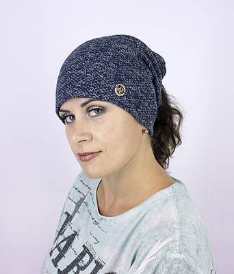 """Женская шапка """"Верона"""" под хвост"""