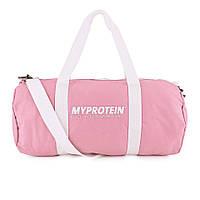 Спортивная сумка для тренажерного зала женская My Protein Barrel Bag (pink) (розовая)