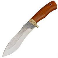 Нож эксклюзивный Спутник 'Тесак Охотника' (длина: 27cm, лезвие: 15.5cm), в кожаных ножнах