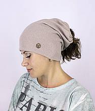 """Женская шапка """"Иллюзия"""" под хвост"""
