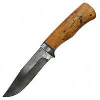 Нож А&Р Турист, дамасская сталь, рукоять карел. береза (длина: 26.5см, лезвие: 14.0см), ножны кожа