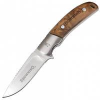 Нож фиксированный Browning Simple Classic (длина: 21см, лезвие: 9см), коричневый, ножны нейлон