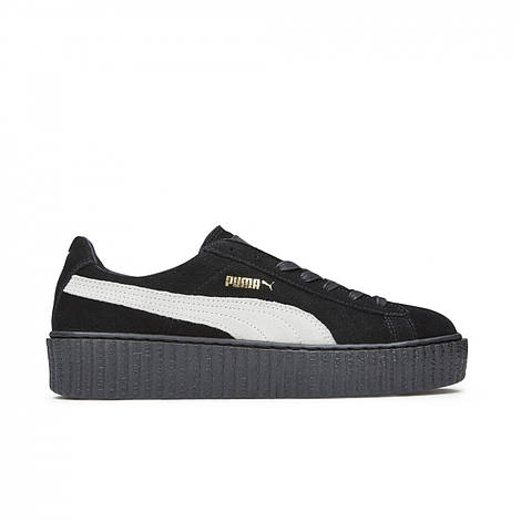 Женские кроссовки Puma  Rihanna x Puma Creeper Black White