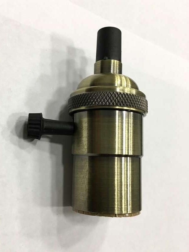 AMP патрон 19 old bronze  с выключателем (в сборе )