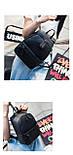 Рюкзак сумка жіночий молодіжний матовий (чорний), фото 6