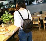 Рюкзак сумка жіночий молодіжний матовий (чорний), фото 4