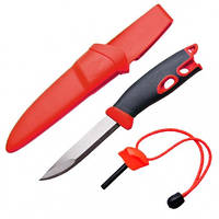 2 в 1 - Нож + огниво LIGHT MY FIRE FireKnife (22.5х4.5х4.5см), красный