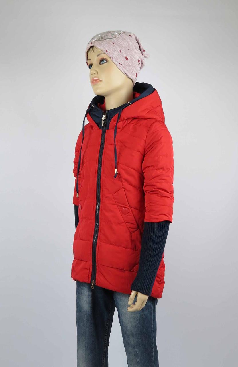 Куртка весна-осень, код 8624, размеры 140-164 (10 лет и старше) , цвет кр, фото 1
