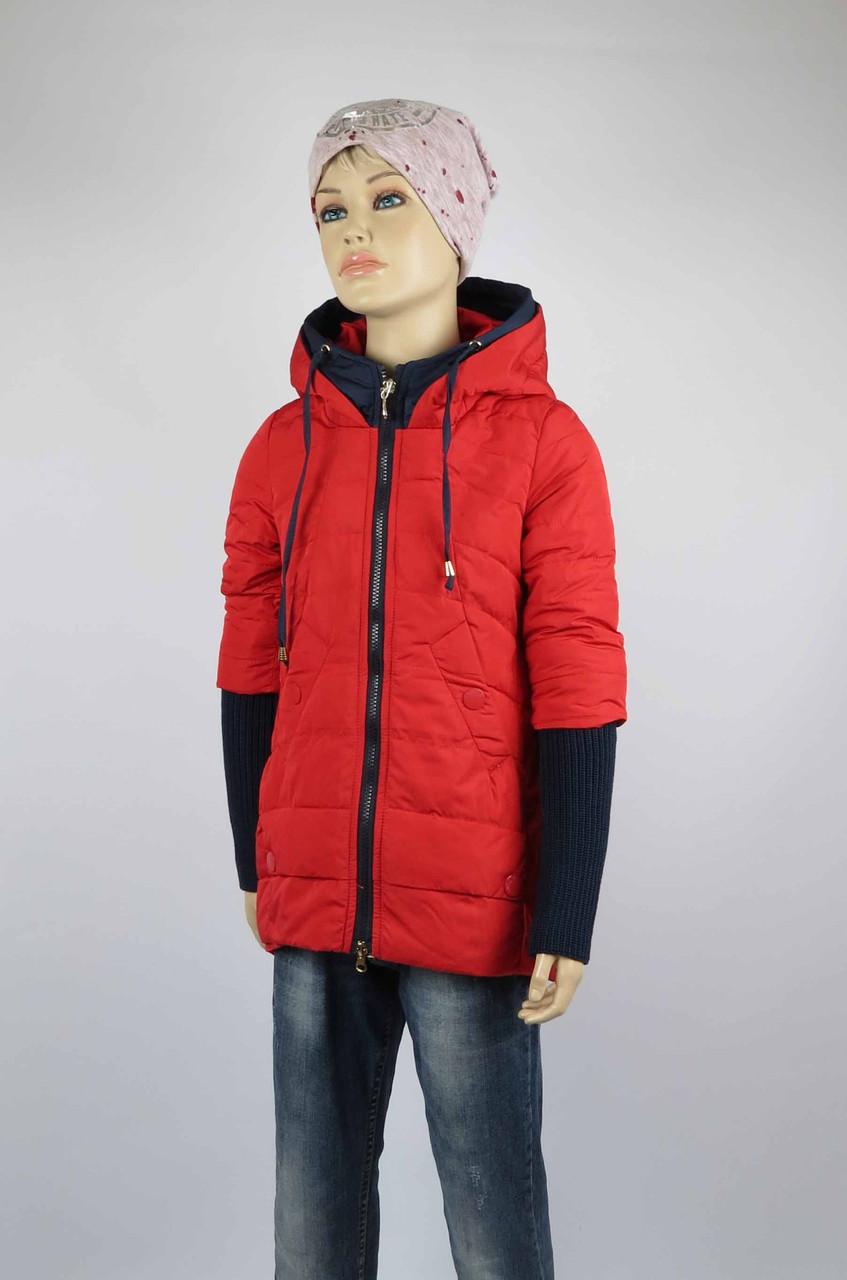 Куртка весна-осень, код 8624, размеры 140-164 (10 лет и старше) , цвет кр, фото 2
