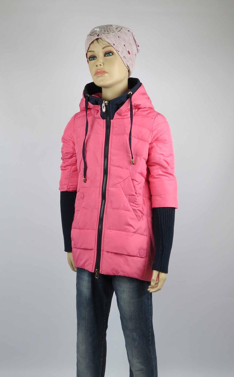 Куртка весна-осень, код 8624, размеры 140-164 (10 лет и старше) , цвет роз, фото 1