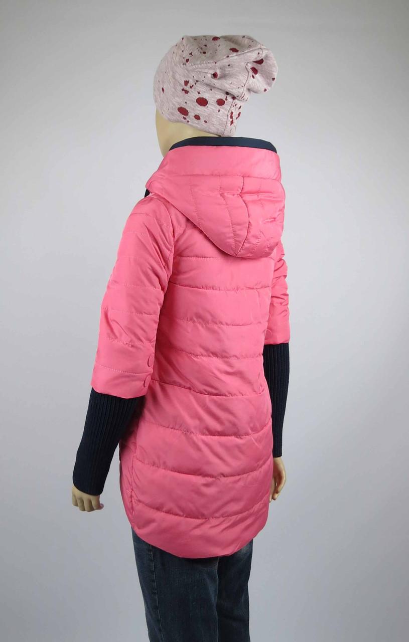 Куртка весна-осень, код 8624, размеры 140-164 (10 лет и старше) , цвет роз, фото 2