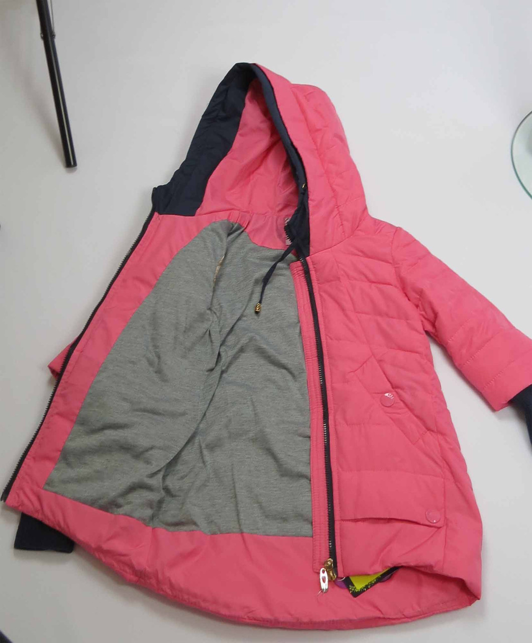 Куртка весна-осень, код 8624, размеры 140-164 (10 лет и старше) , цвет роз, фото 3