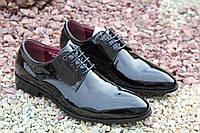 Мужские туфли натуральный лак