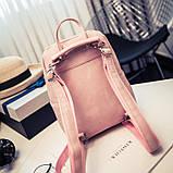 Рюкзак сумка жіночий молодіжний матовий (чорний), фото 8