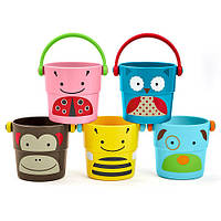 Ведерки для купания Skip Hop Zoo Bath Stack and Pour Bucket Rinse Cups