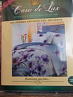 """Постельный набор """"Casa de Lux"""", 100% cotton, двухспальный, 180х220, орхидеи"""