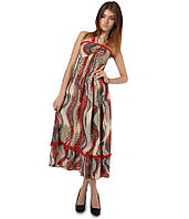 Платье сарафан в пол красное