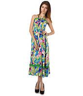 Платье сарафан в пол бирюзовое