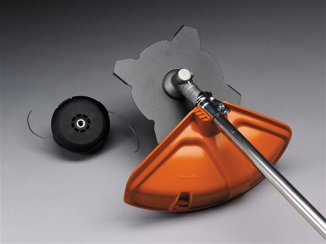 Косильная головка и металлический нож в комплекте к бензокосе Хускварна