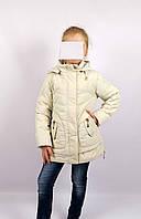 Куртка весна-осень, код КТ 17-16, размеры 122-146 (6-12 лет), цвет беж, фото 1