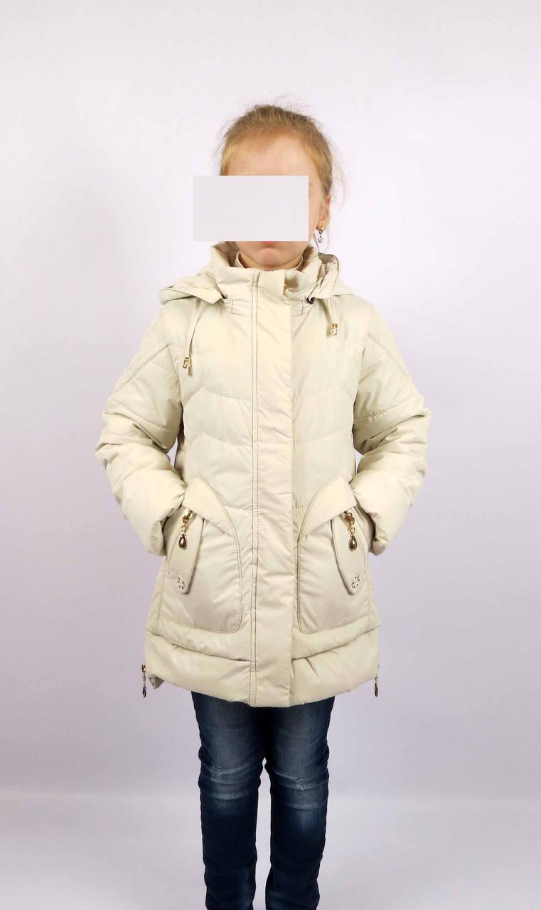 Куртка весна-осень, код КТ 17-16, размеры 122-146 (6-12 лет), цвет беж, фото 2