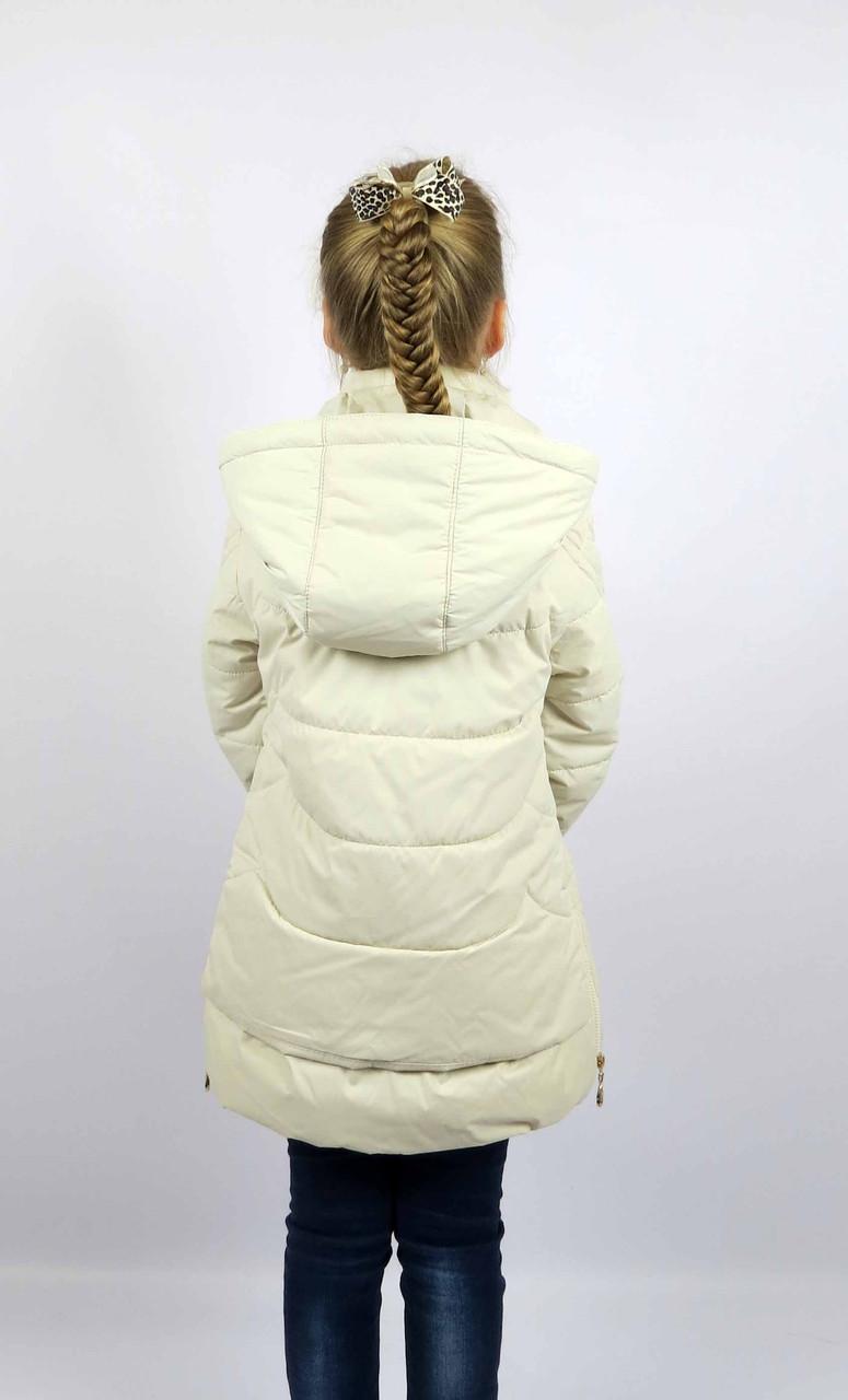 Куртка весна-осень, код КТ 17-16, размеры 122-146 (6-12 лет), цвет беж, фото 3