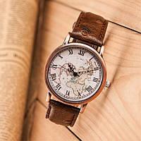 Часы мужские кварцевые Geography (коричневые)
