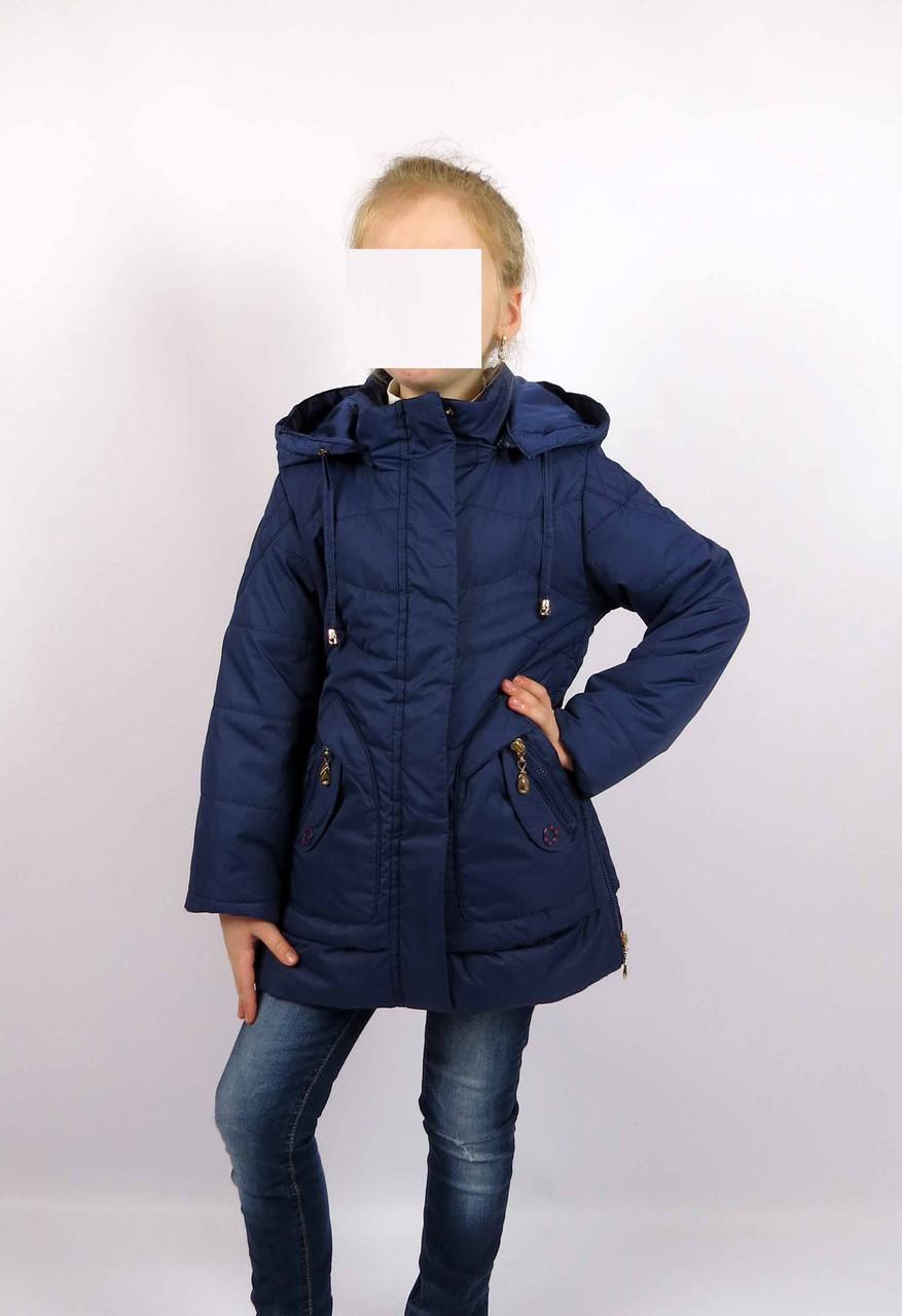 Куртка весна-осень, код КТ 17-16, размеры 122-146 (6-12 лет), цвет син, фото 1