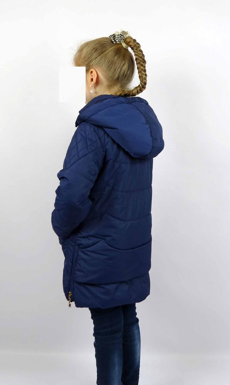 Куртка весна-осень, код КТ 17-16, размеры 122-146 (6-12 лет), цвет син, фото 2
