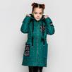 Демисезонное пальто с капюшоном  для девочки CVETKOV