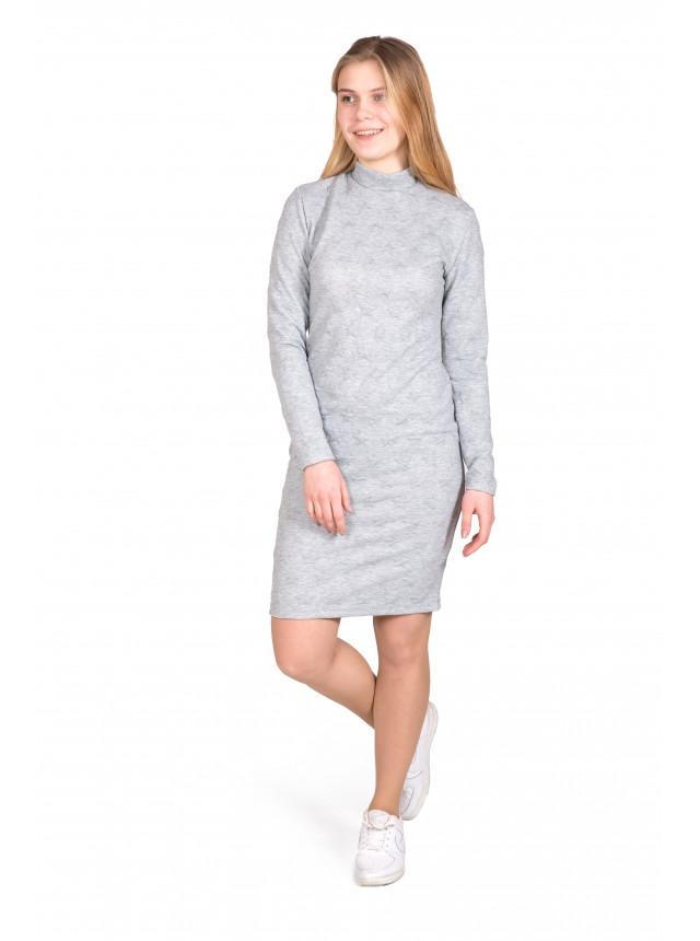 Платье - футляр, миди - длина с воротником - стойкой жаккард карманы свободное купить №1570 S, M, L, XL, 42,44