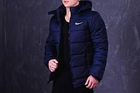 Зимняя синяя мужская спортивная куртка Nike